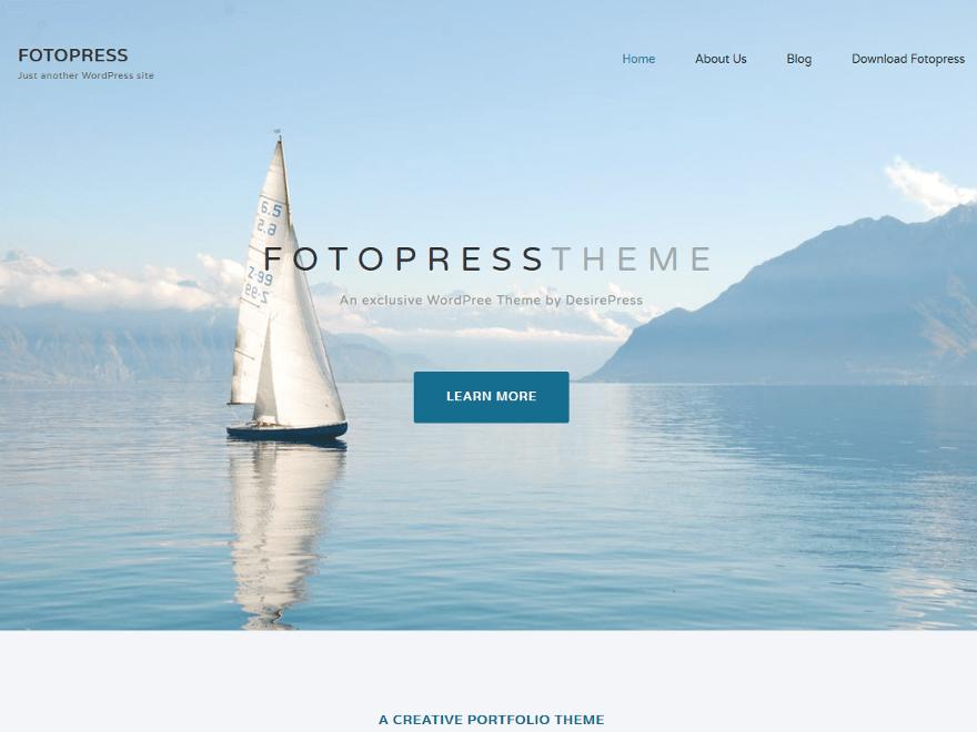 Download Fotopress 1.0.2 – Free WordPress Theme
