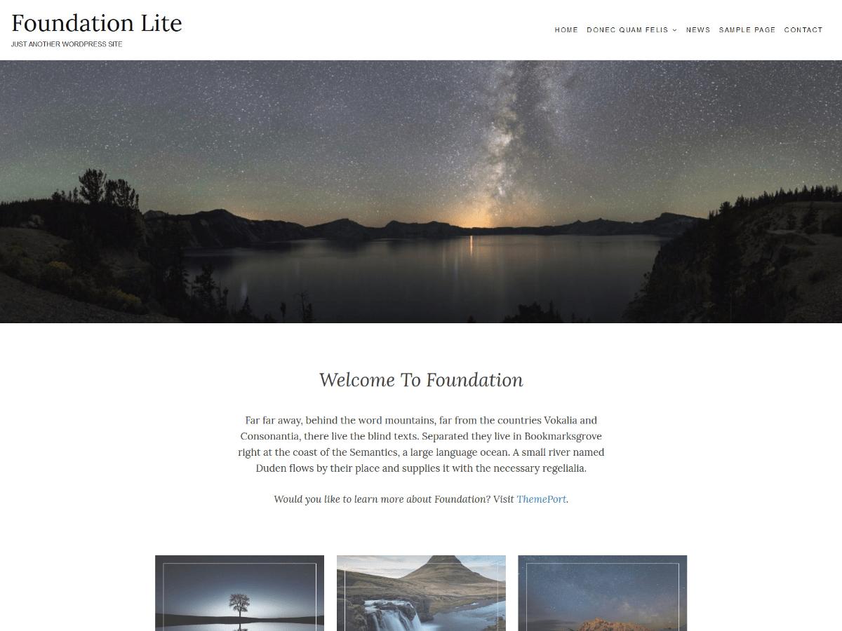 Download Foundation Lite 1.0.3 – Free WordPress Theme