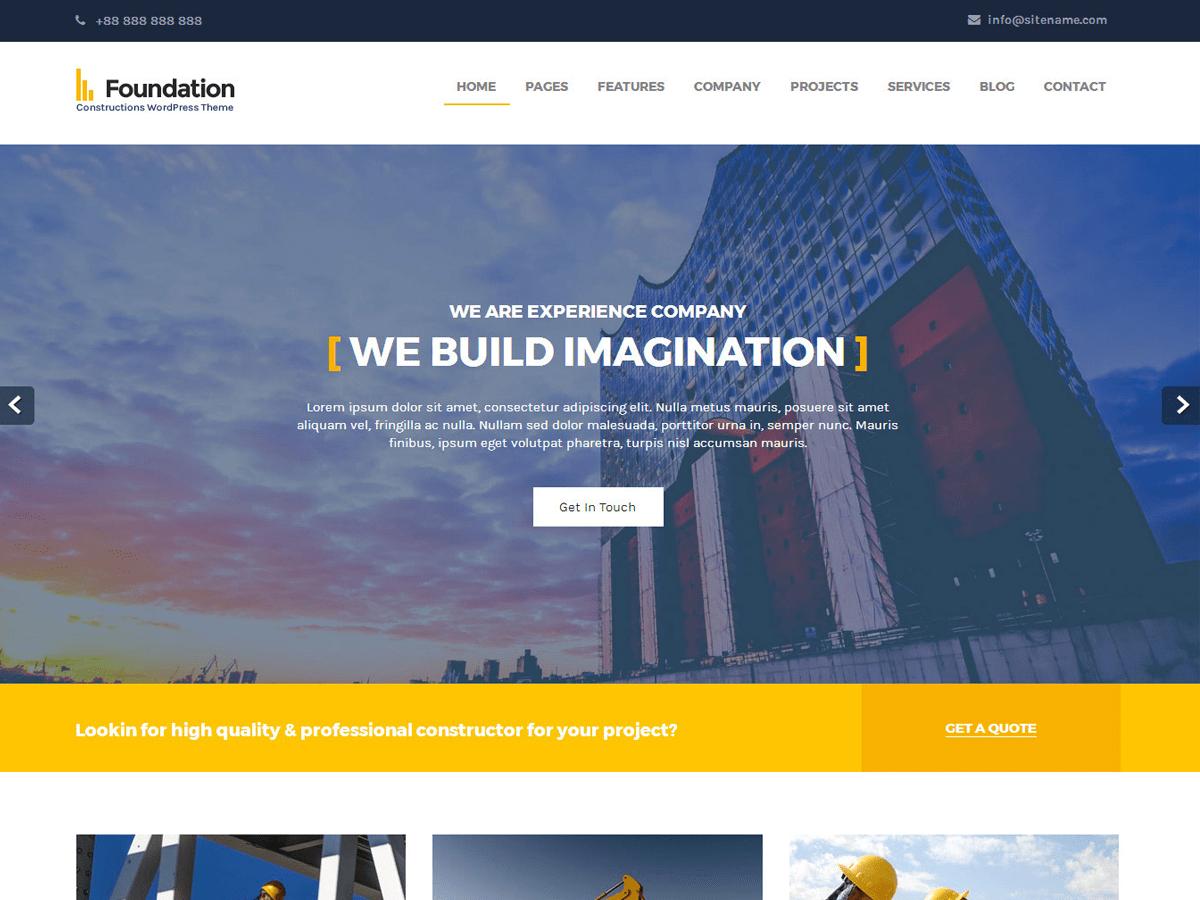Download Foundations 1.0 – Free WordPress Theme