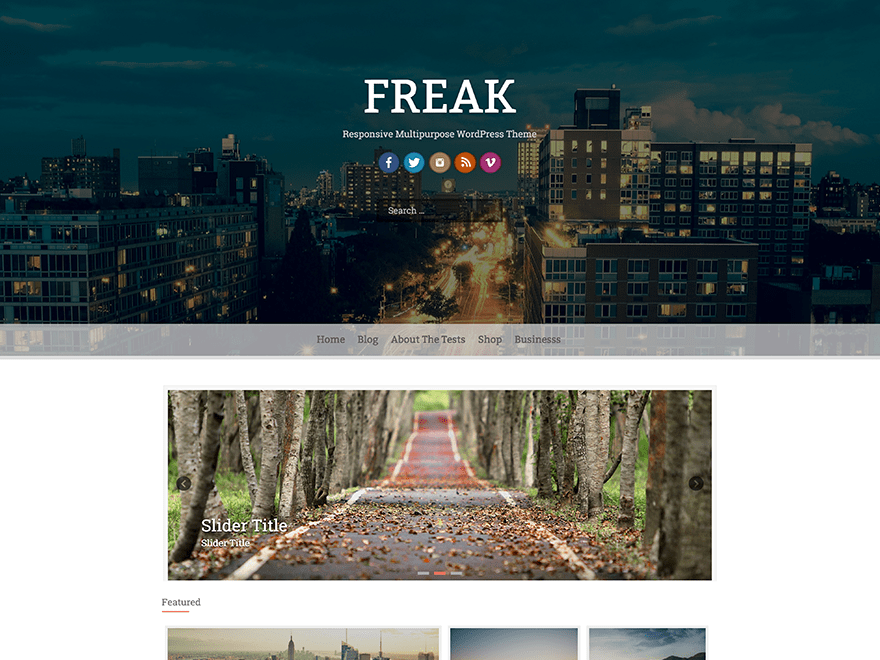Download Freak 1.1.0 – Free WordPress Theme