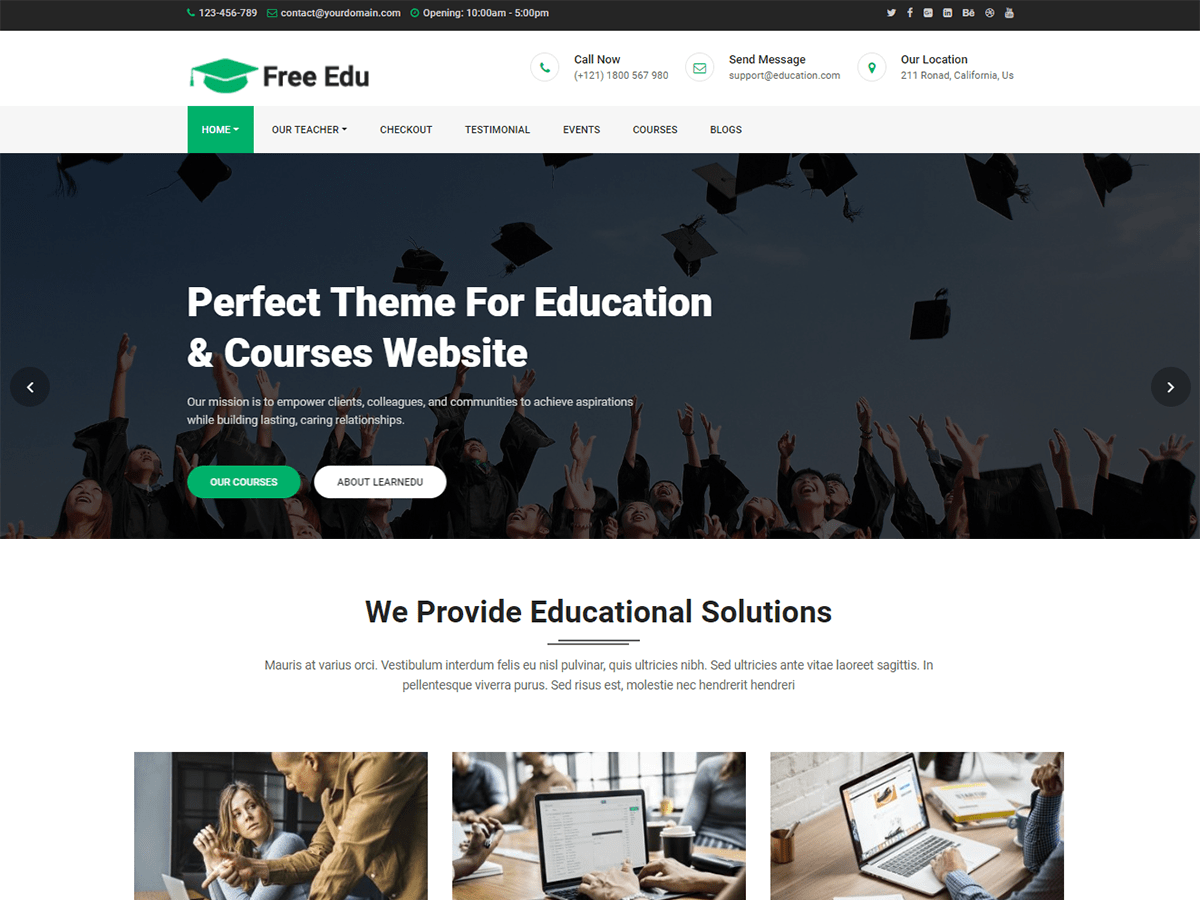 Download Free Education 1.0.2 – Free WordPress Theme