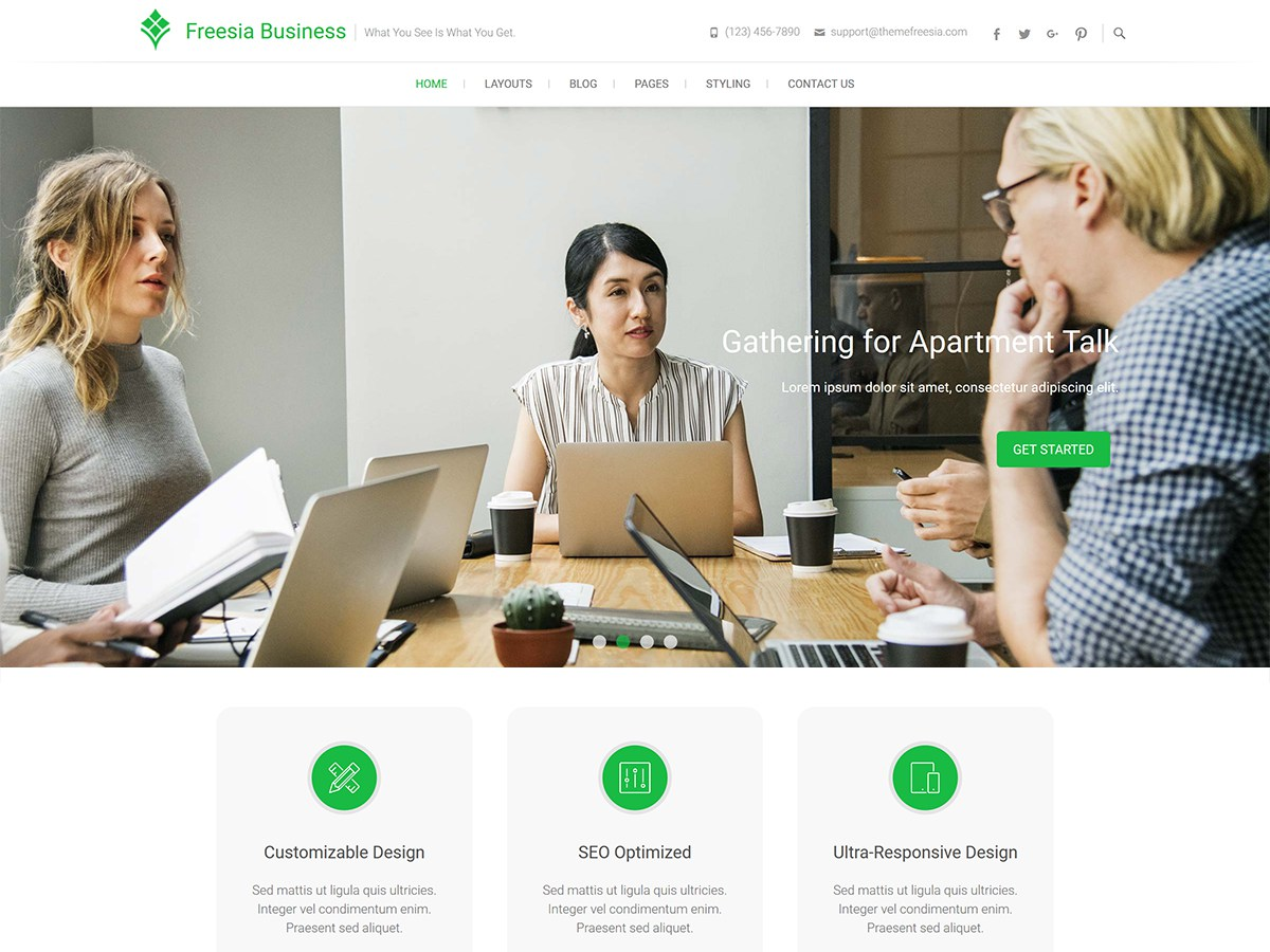 Download Freesia Business 1.0.1 – Free WordPress Theme