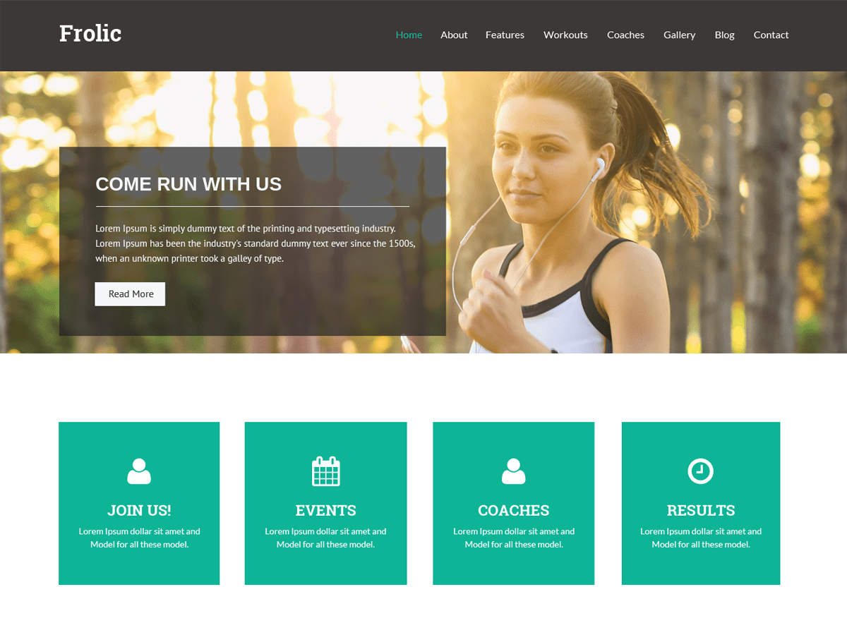 Download Frolic 1.0.8 – Free WordPress Theme