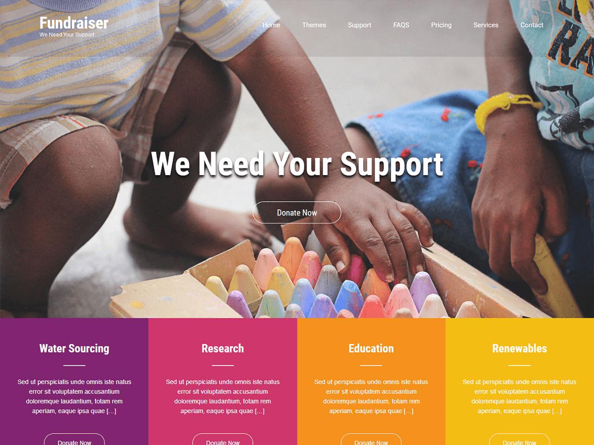 Download Fundraiser Lite 1.3 – Free WordPress Theme
