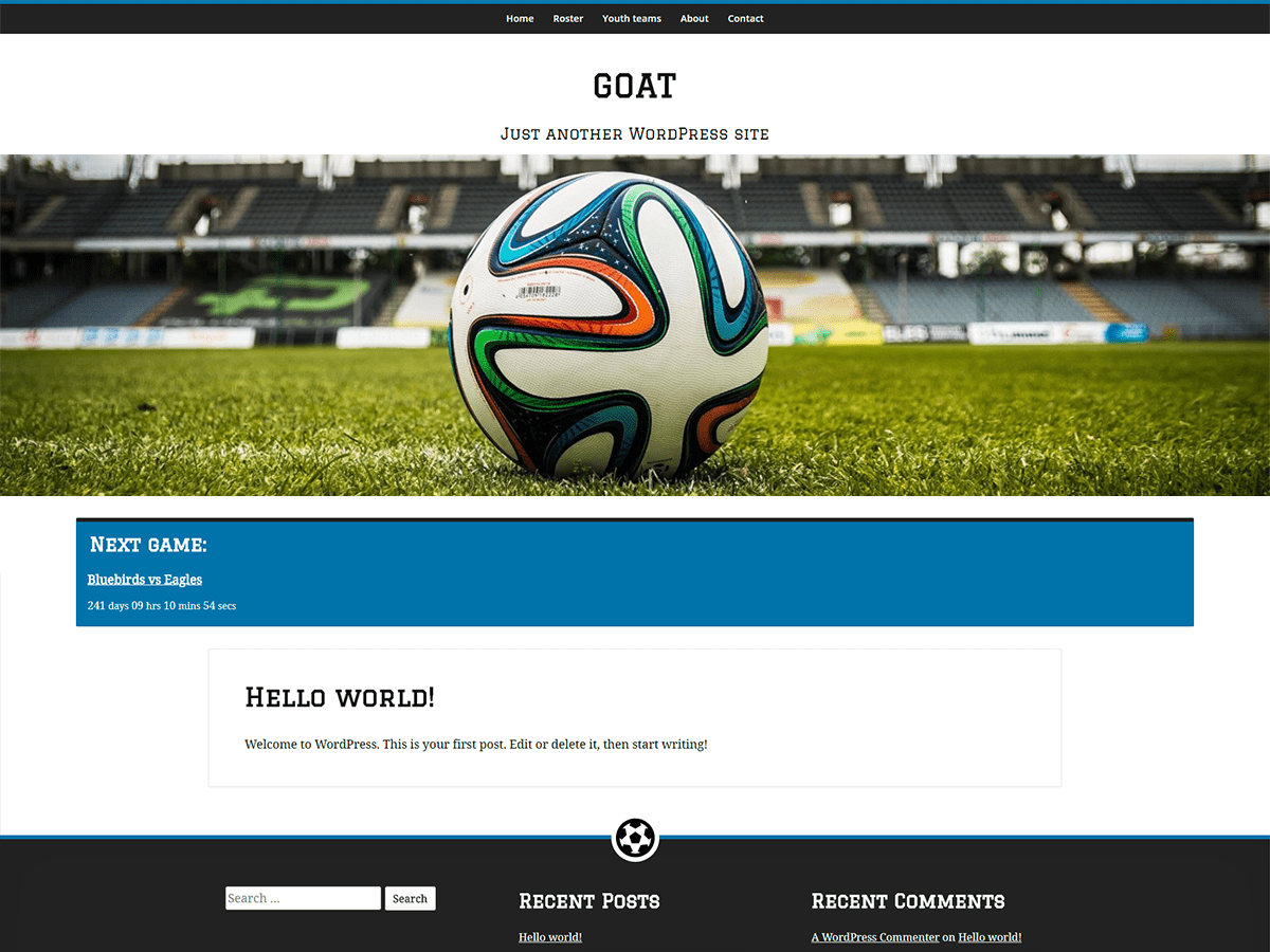 Download GOAT 0.1 – Free WordPress Theme