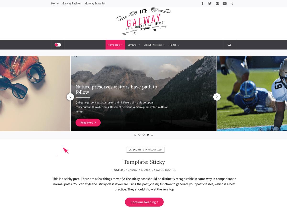 Download Galway Lite 1.0.1 – Free WordPress Theme
