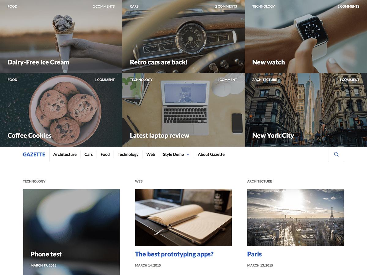 Download Gazette 1.1.1 – Free WordPress Theme