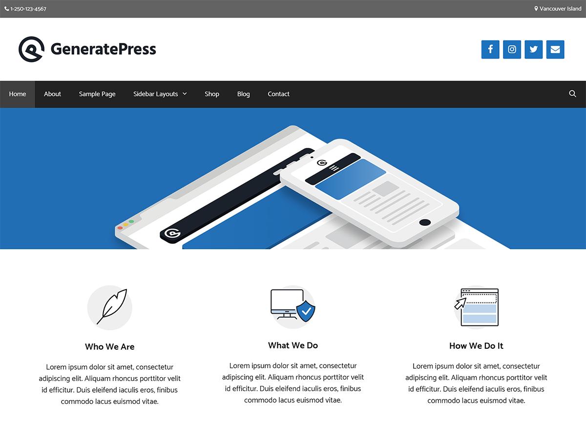 Download GeneratePress 2.1.4 – Free WordPress Theme