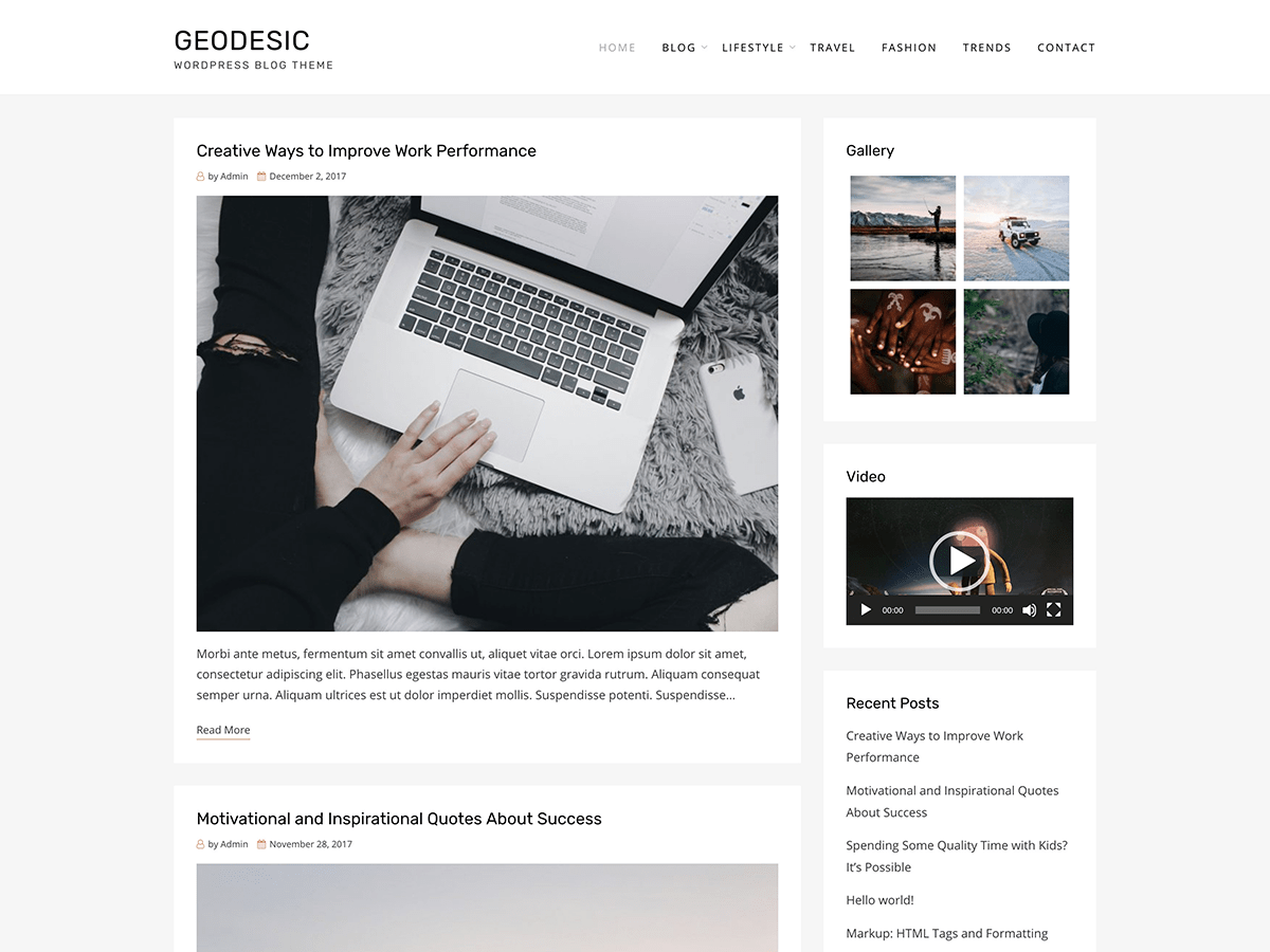 Download Geodesic 1.0.1 – Free WordPress Theme