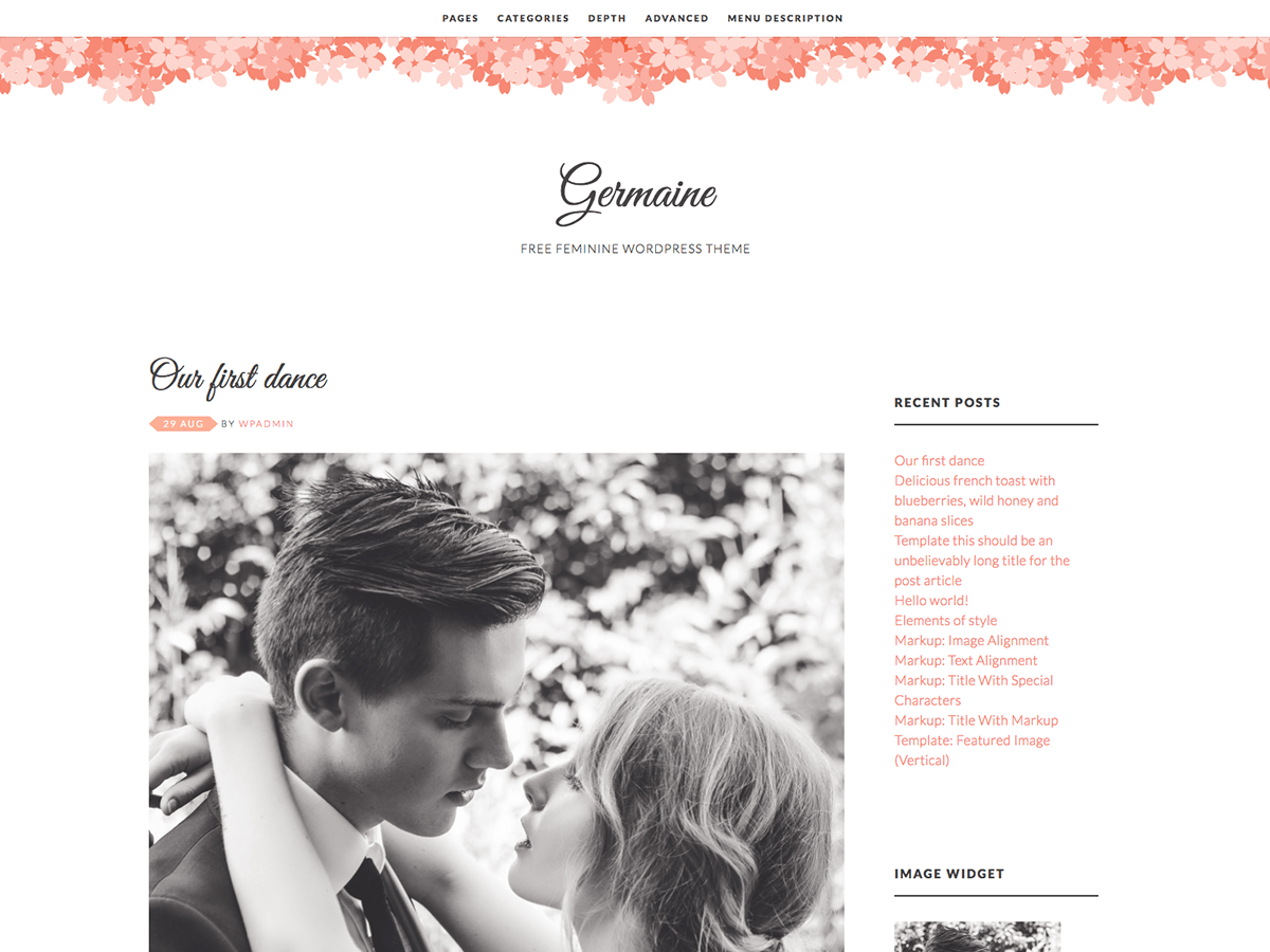 Download Germaine 2.7 – Free WordPress Theme