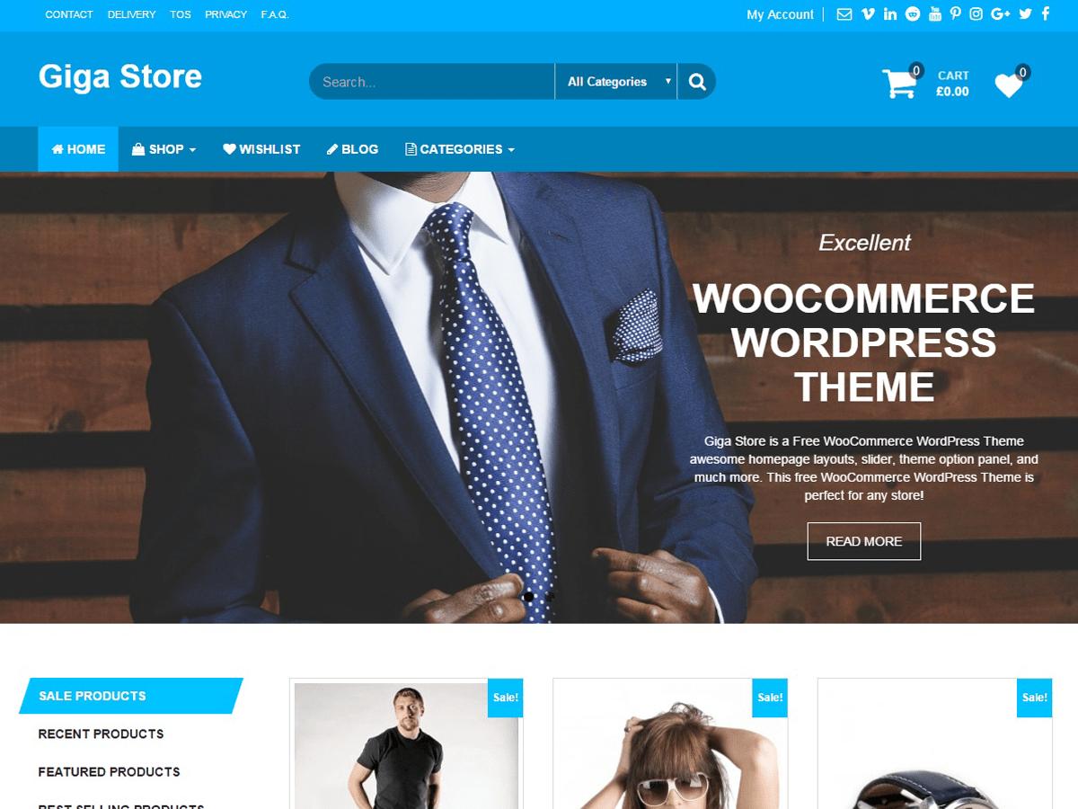 Download Giga Store 1.1.1 – Free WordPress Theme