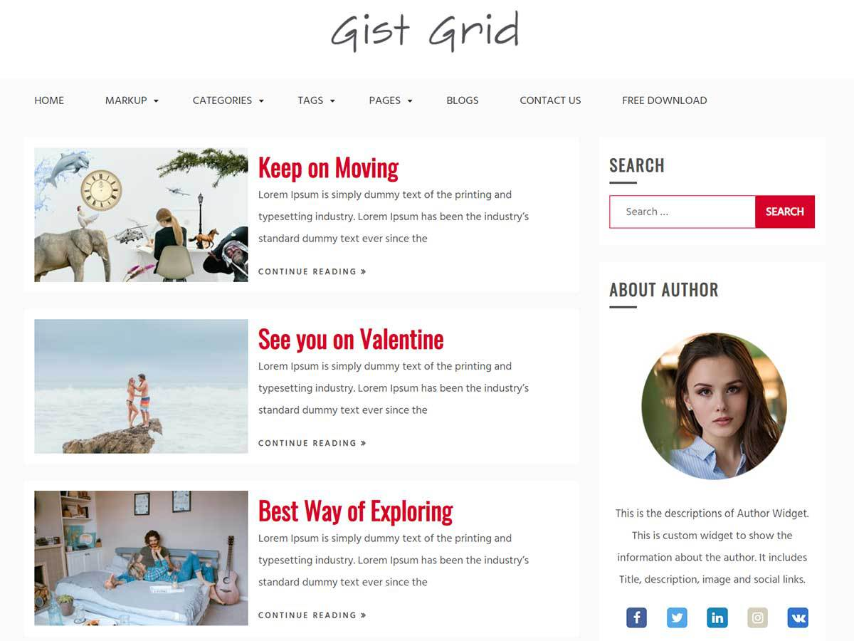 Download Gist Grid 1.0.0 – Free WordPress Theme