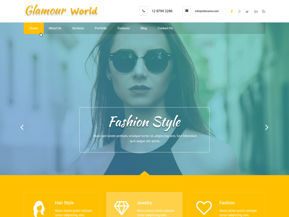 Download Glamour World 1.1.1 – Free WordPress Theme