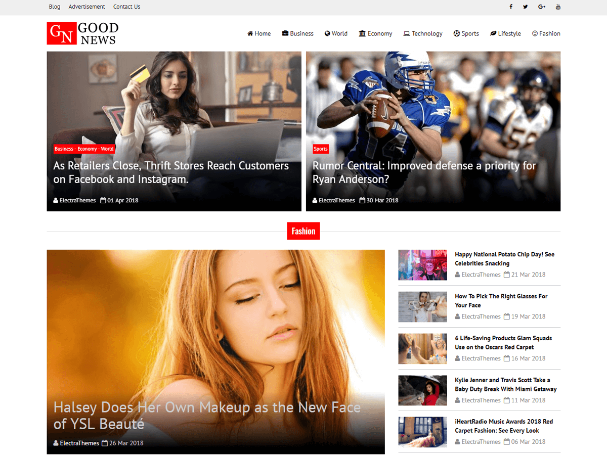 Download Good News Lite 1.0.5 – Free WordPress Theme