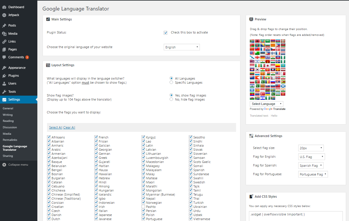 Download Google Language Translator 5.0.48 – Free WordPress Plugin