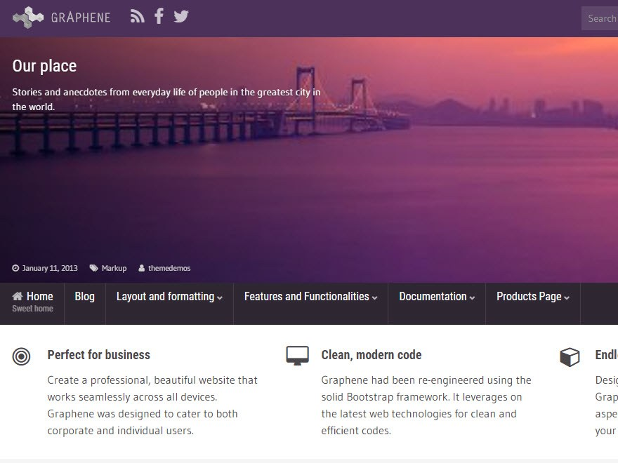 Download Graphene 2.5.1 – Free WordPress Theme
