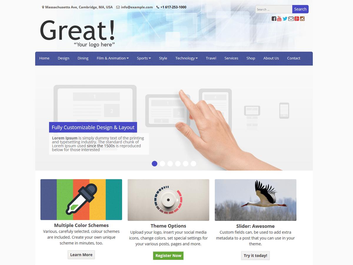 Download Great 1,061 – Free WordPress Theme