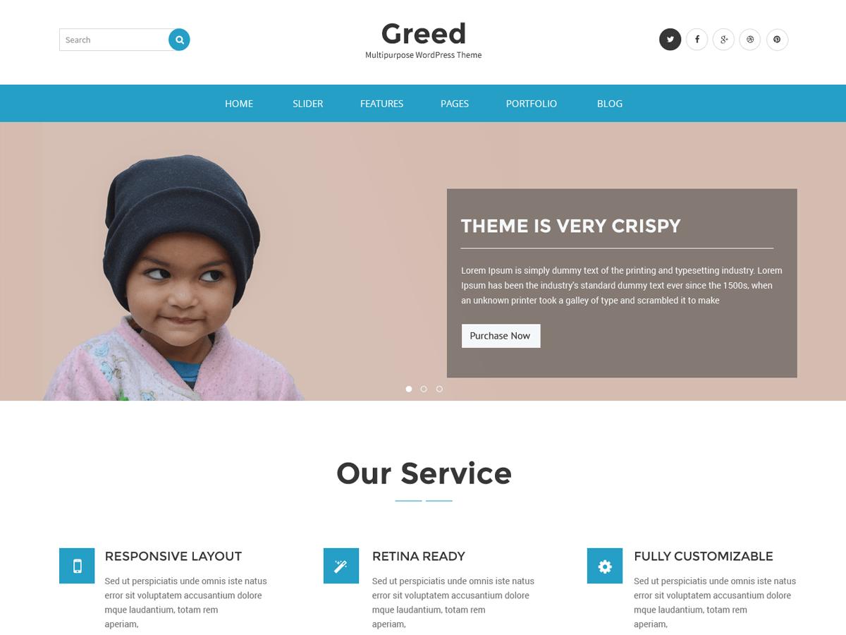 Download Greed 1.0.2 – Free WordPress Theme