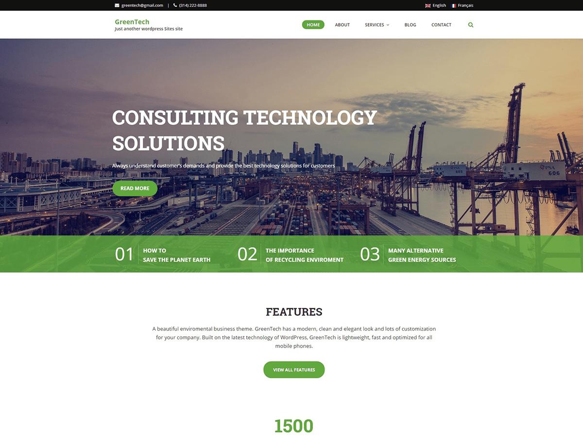 Download GreenTech Lite 1.0.10 – Free WordPress Theme