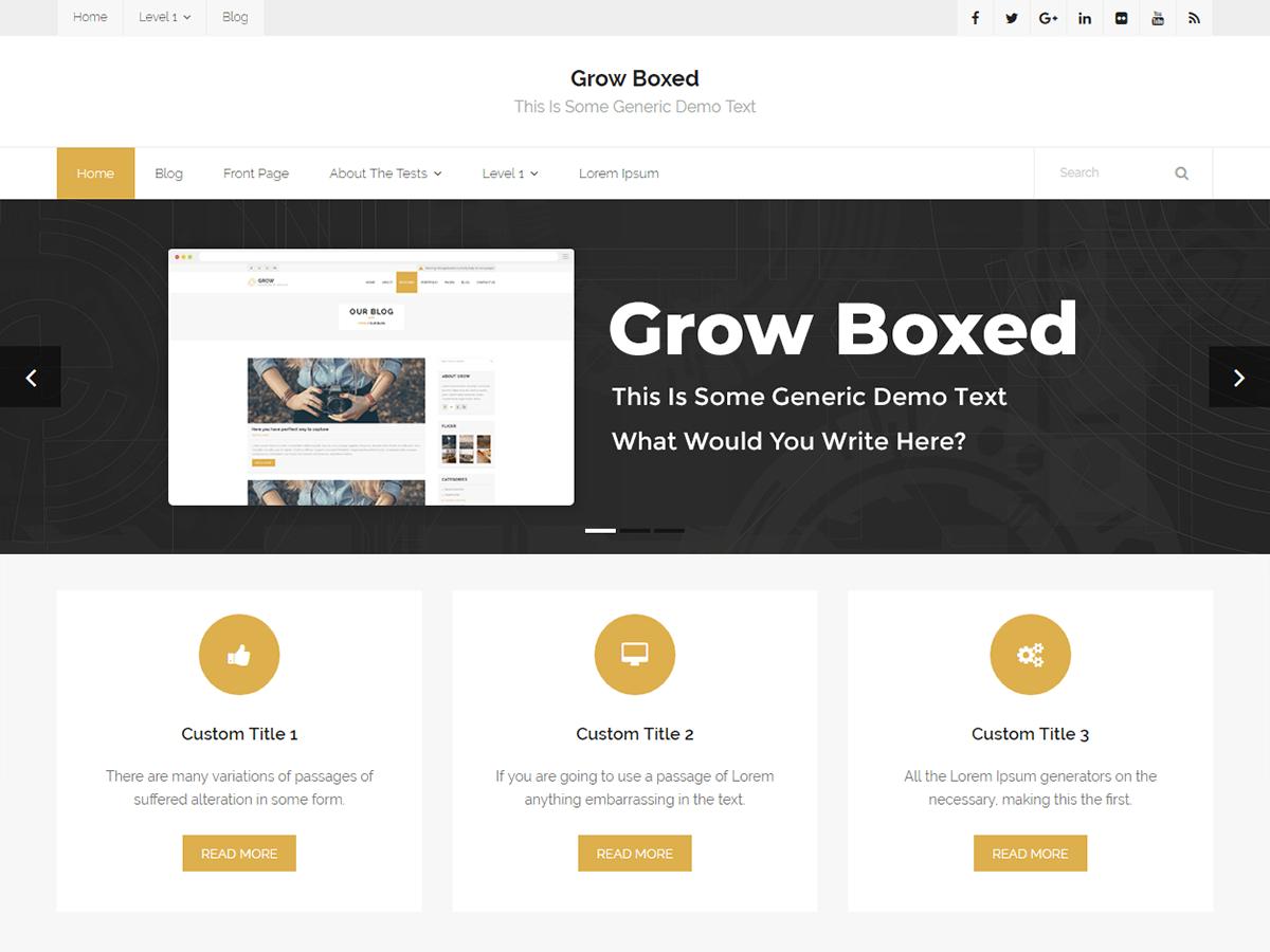 Download Grow Boxed 1.0.0 – Free WordPress Theme