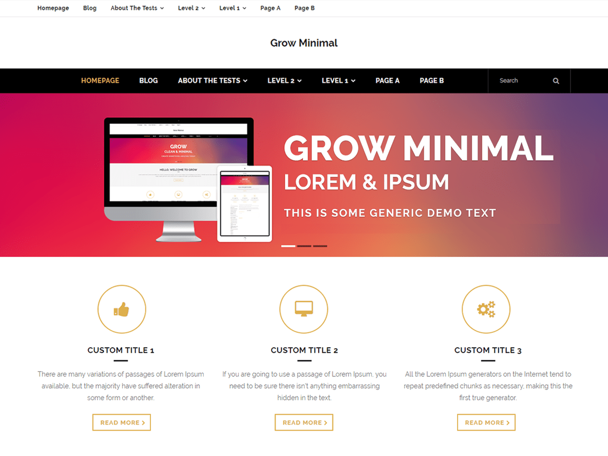 Download Grow Minimal 1.0.1 – Free WordPress Theme