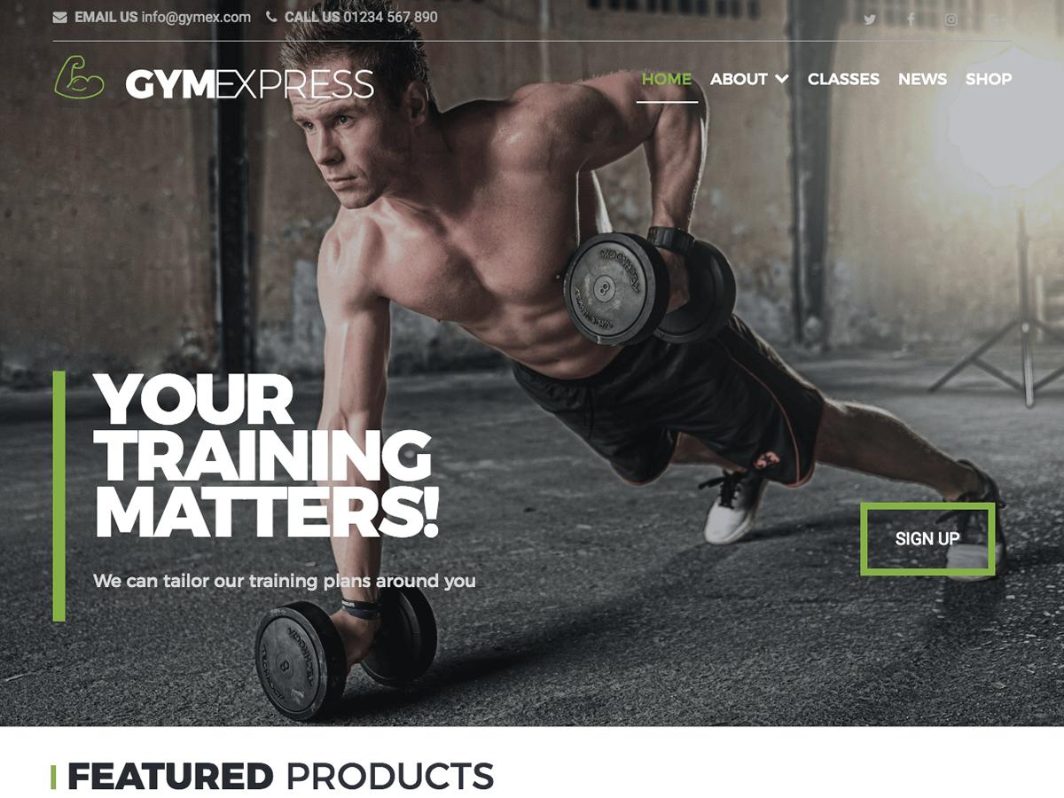 Download Gym Express 1.0.7 – Free WordPress Theme