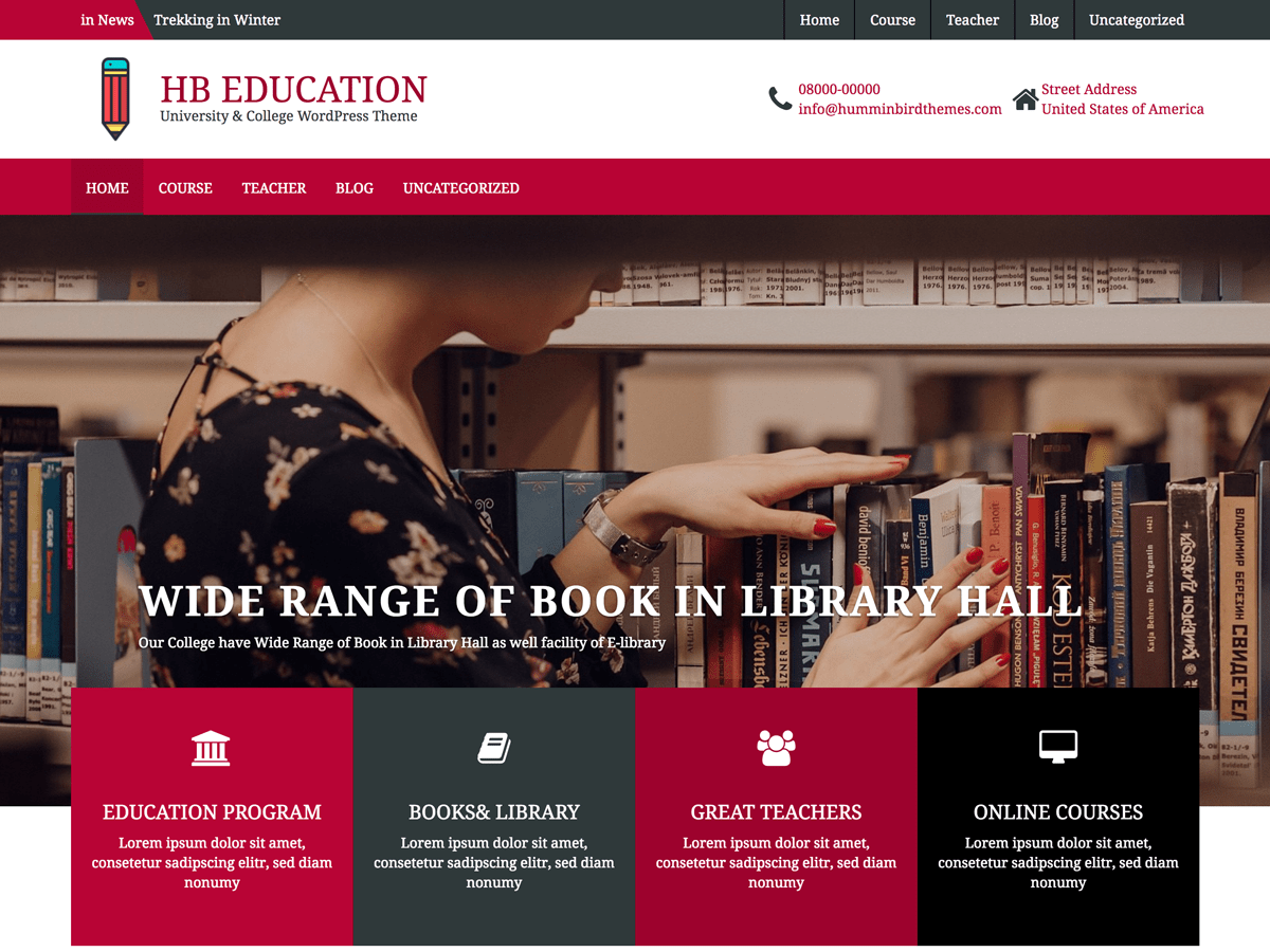 Download HB Education 1.0.2 – Free WordPress Theme