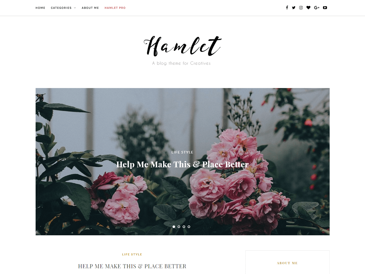 Download Hamlet Lite 1.0.5 – Free WordPress Theme