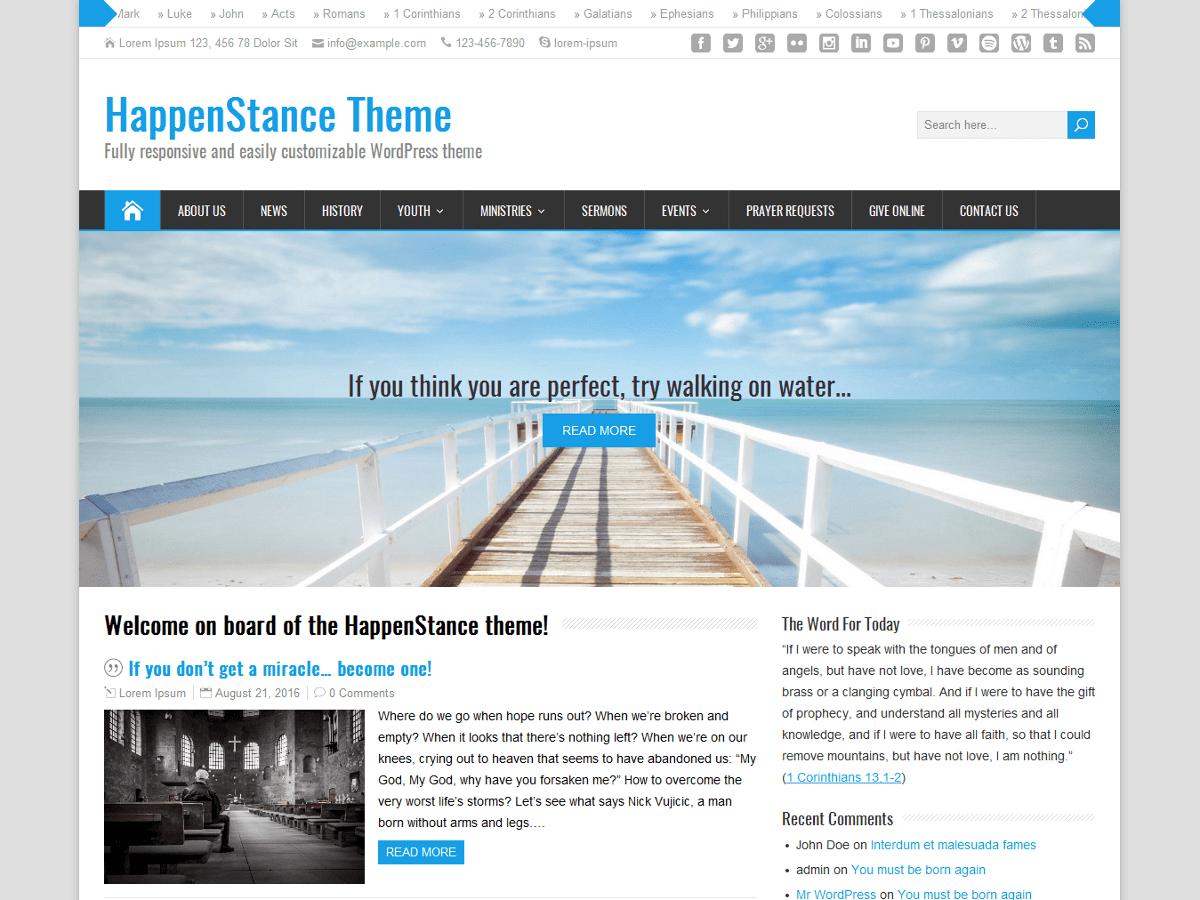 Download HappenStance 3.0.1 – Free WordPress Theme