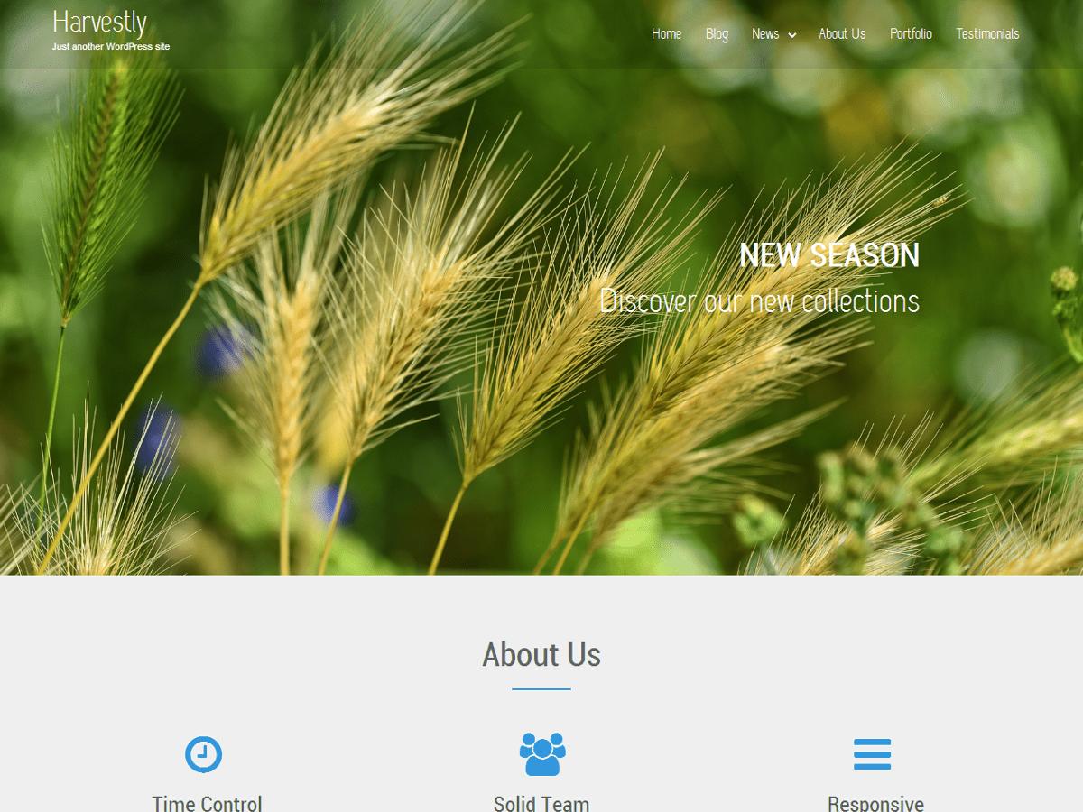 Download Harvestly 1.1.4 – Free WordPress Theme