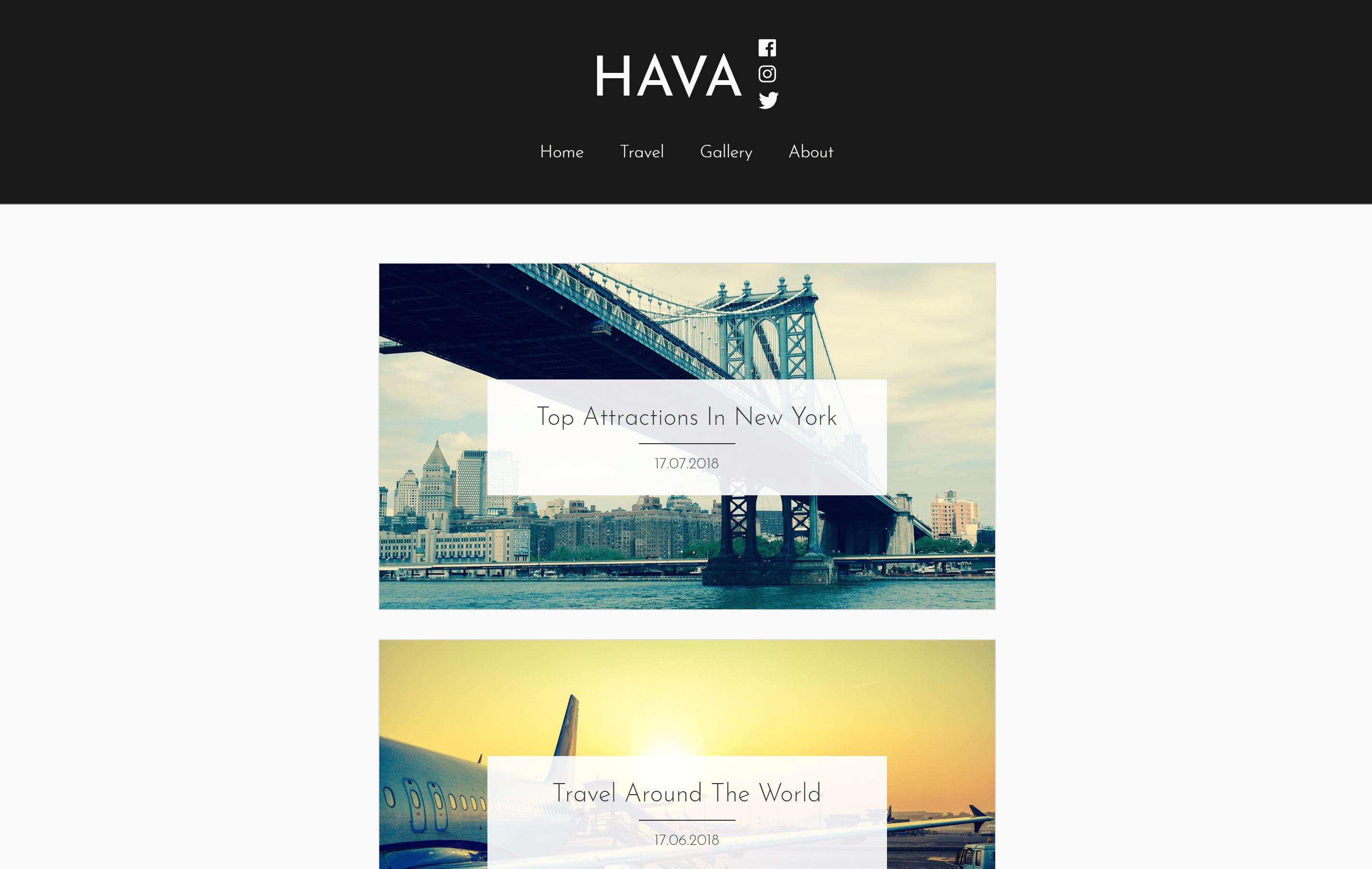 Download Hava 1.3 – Free WordPress Theme