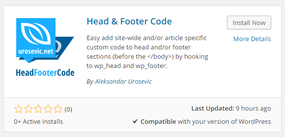 Download Head & Footer Code 1.0.7 – Free WordPress Plugin
