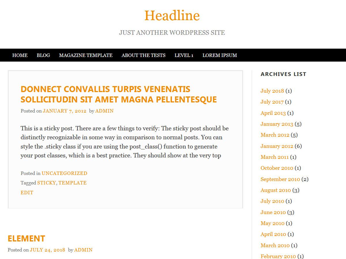 Download Headline 1.0.2 – Free WordPress Theme