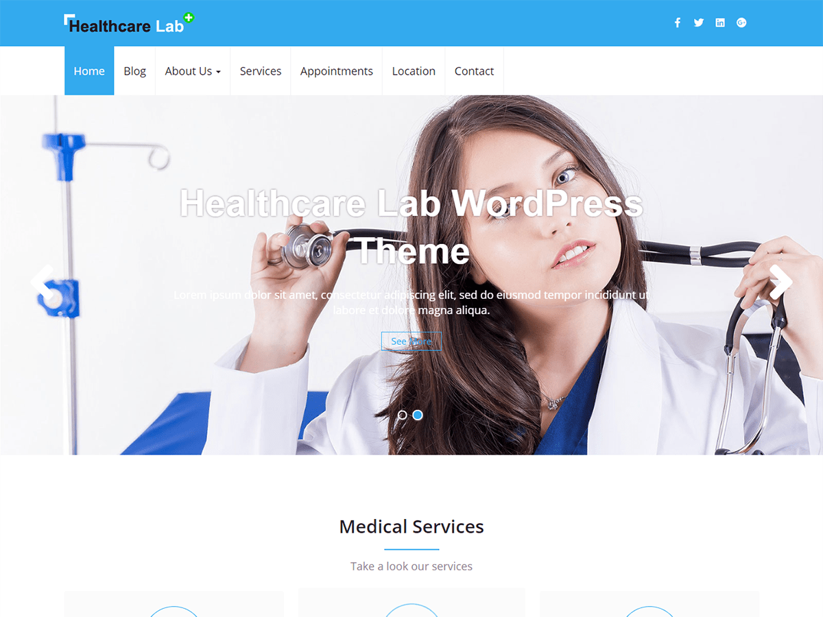 Download Healthcare Lab 0.4 – Free WordPress Theme