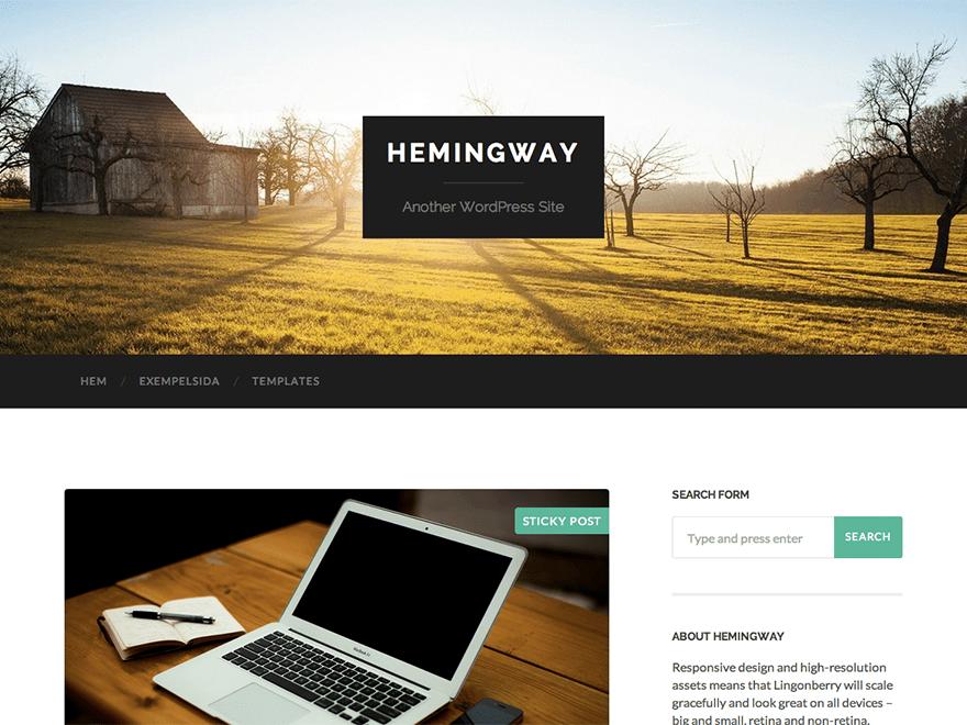 Download Hemingway 1.67 – Free WordPress Theme