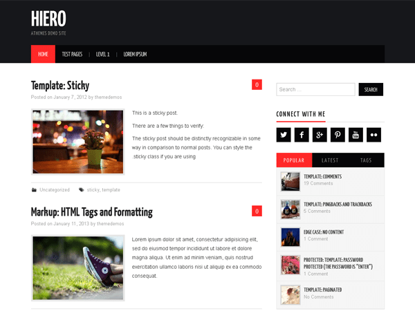Download Hiero 1.8 – Free WordPress Theme