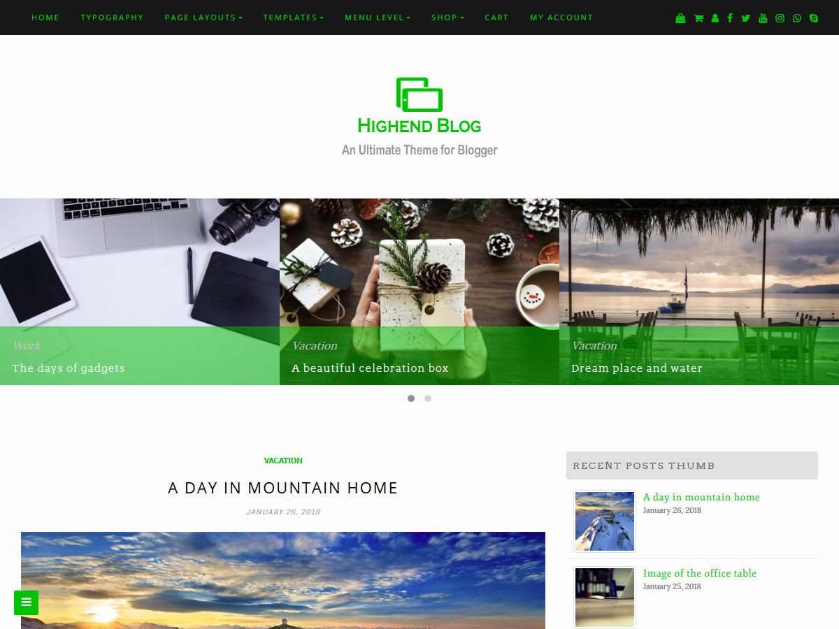 Download Highend Blog 1.0.0 – Free WordPress Theme