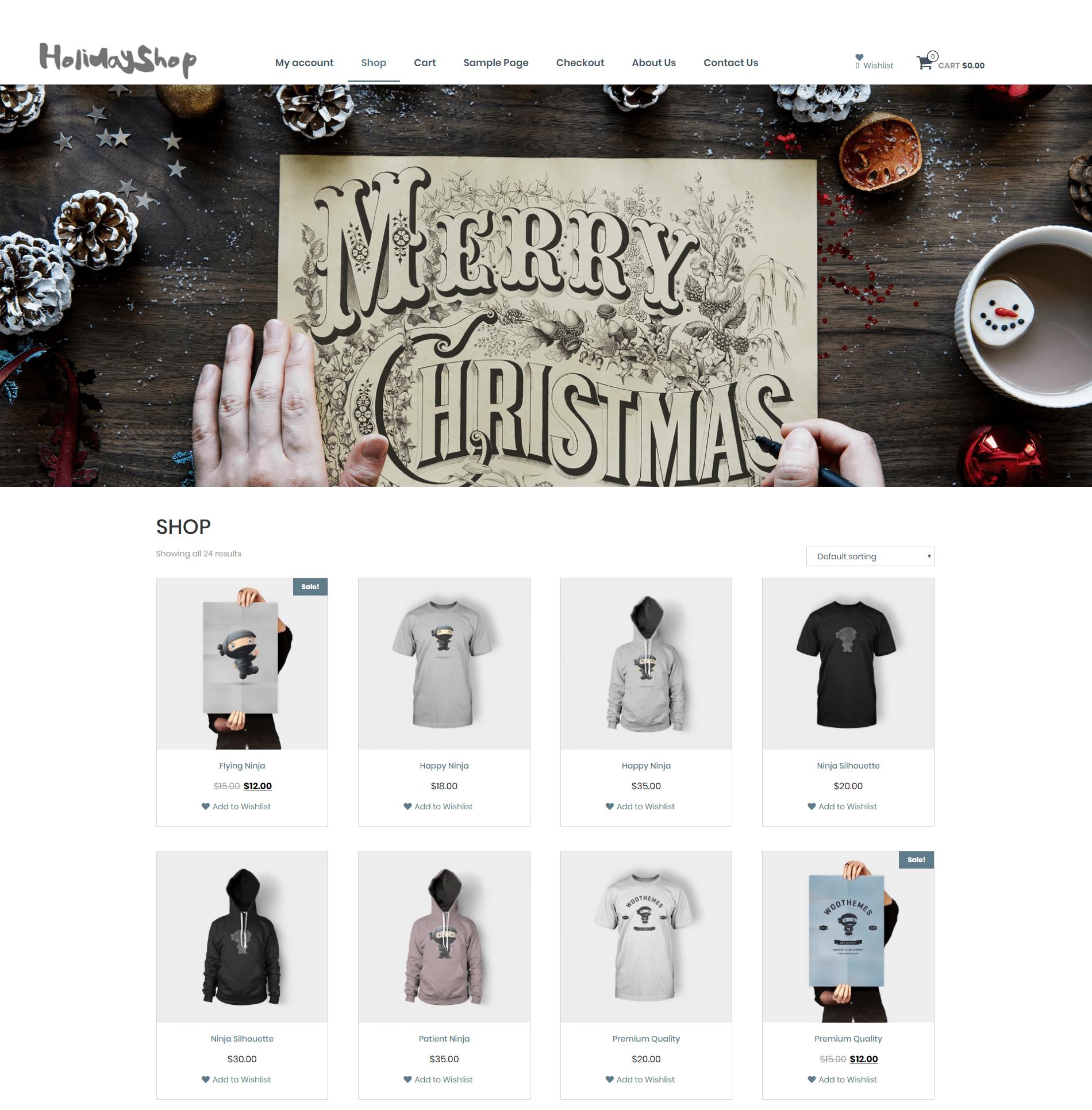 Download Holidayshop 1.0.5 – Free WordPress Theme