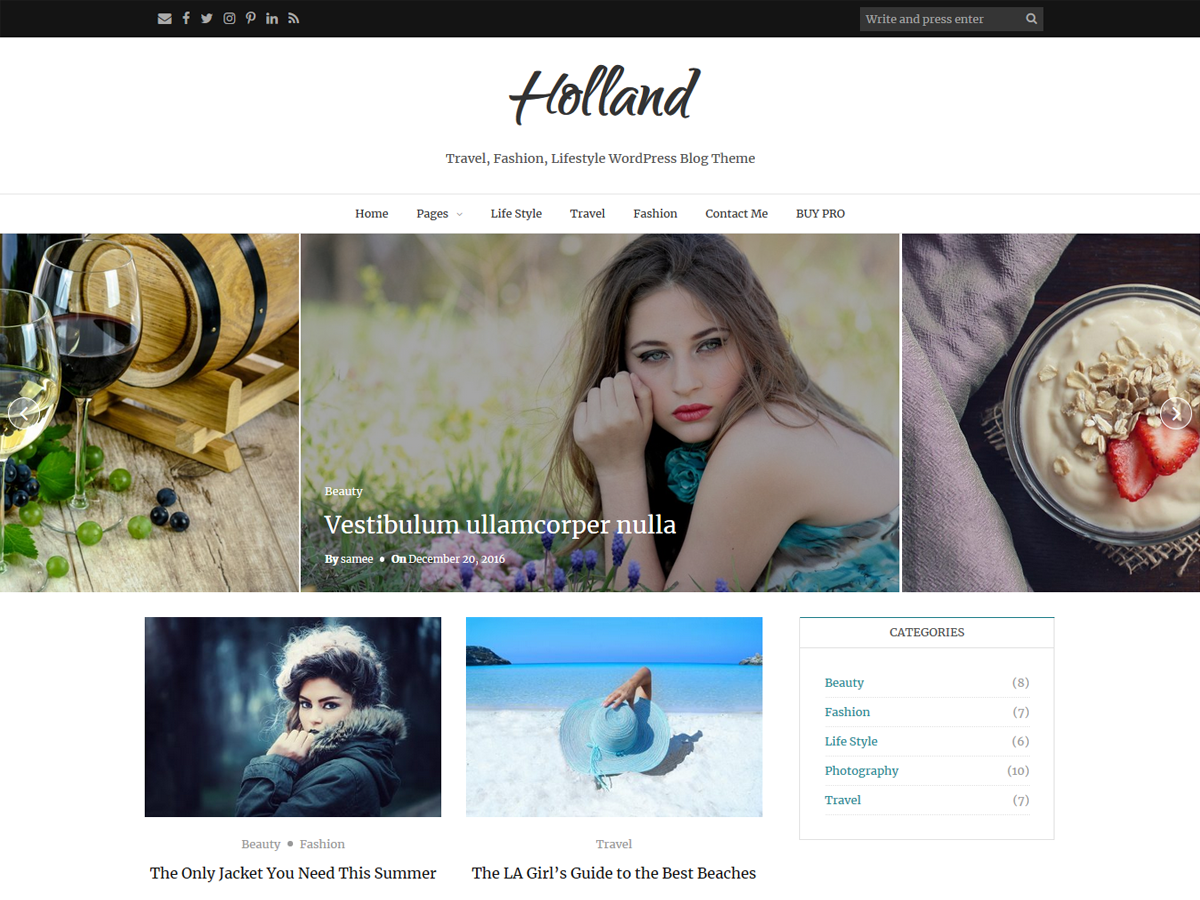 Download Holland 1.1.7 – Free WordPress Theme