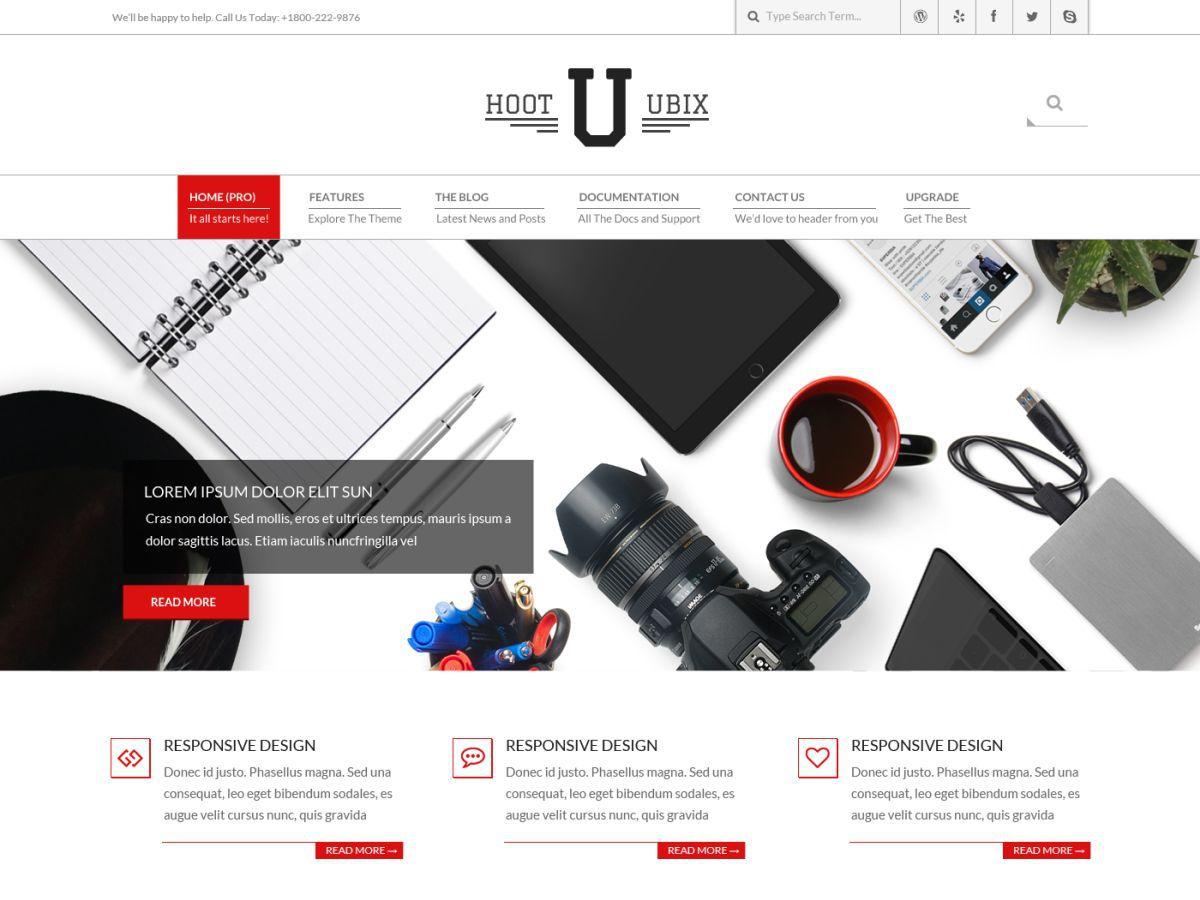 Download Hoot Ubix 1.6.7 – Free WordPress Theme