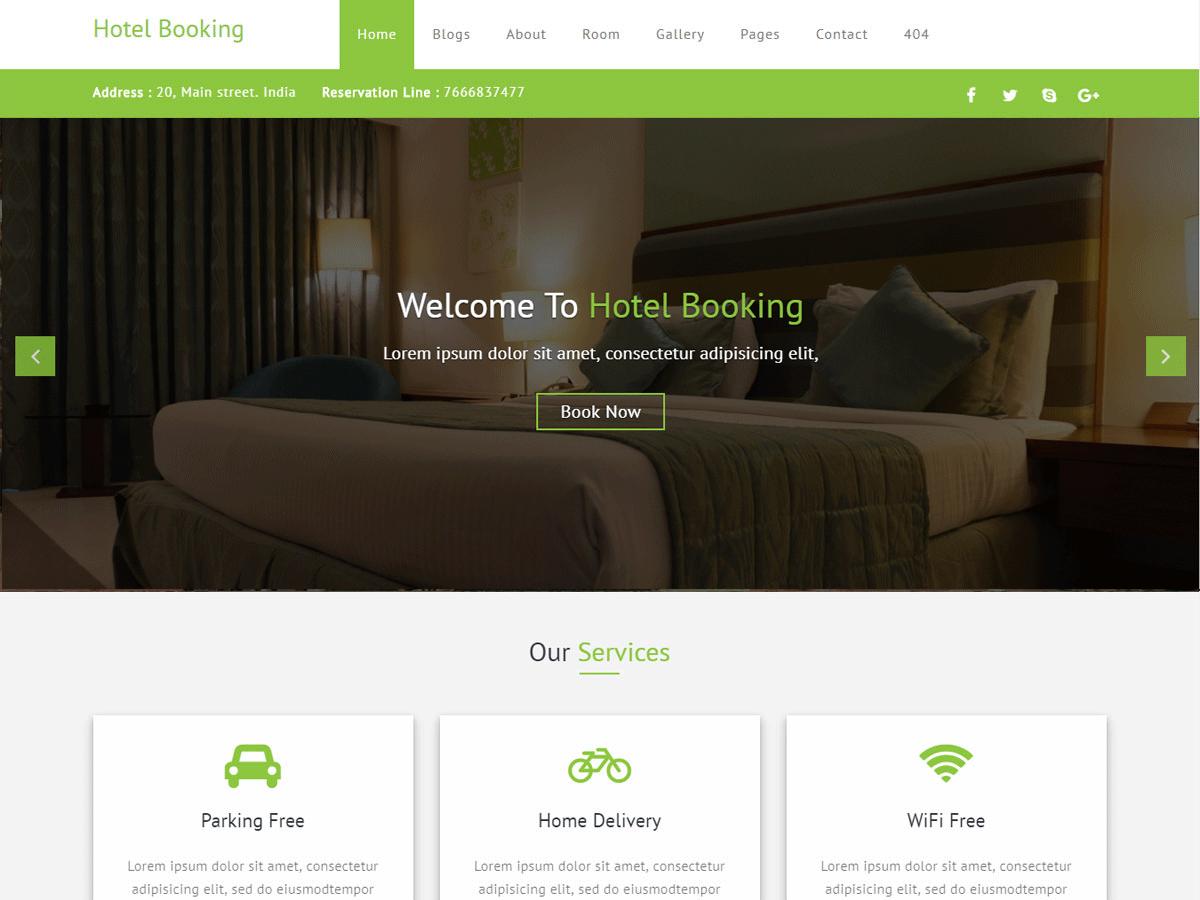 Download Hotel Booking 0.3 – Free WordPress Theme