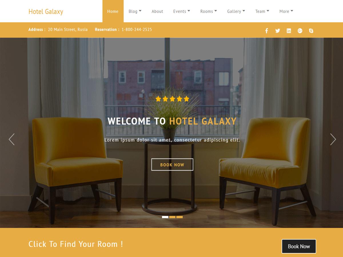 Download Hotel Galaxy 3.9.8 – Free WordPress Theme