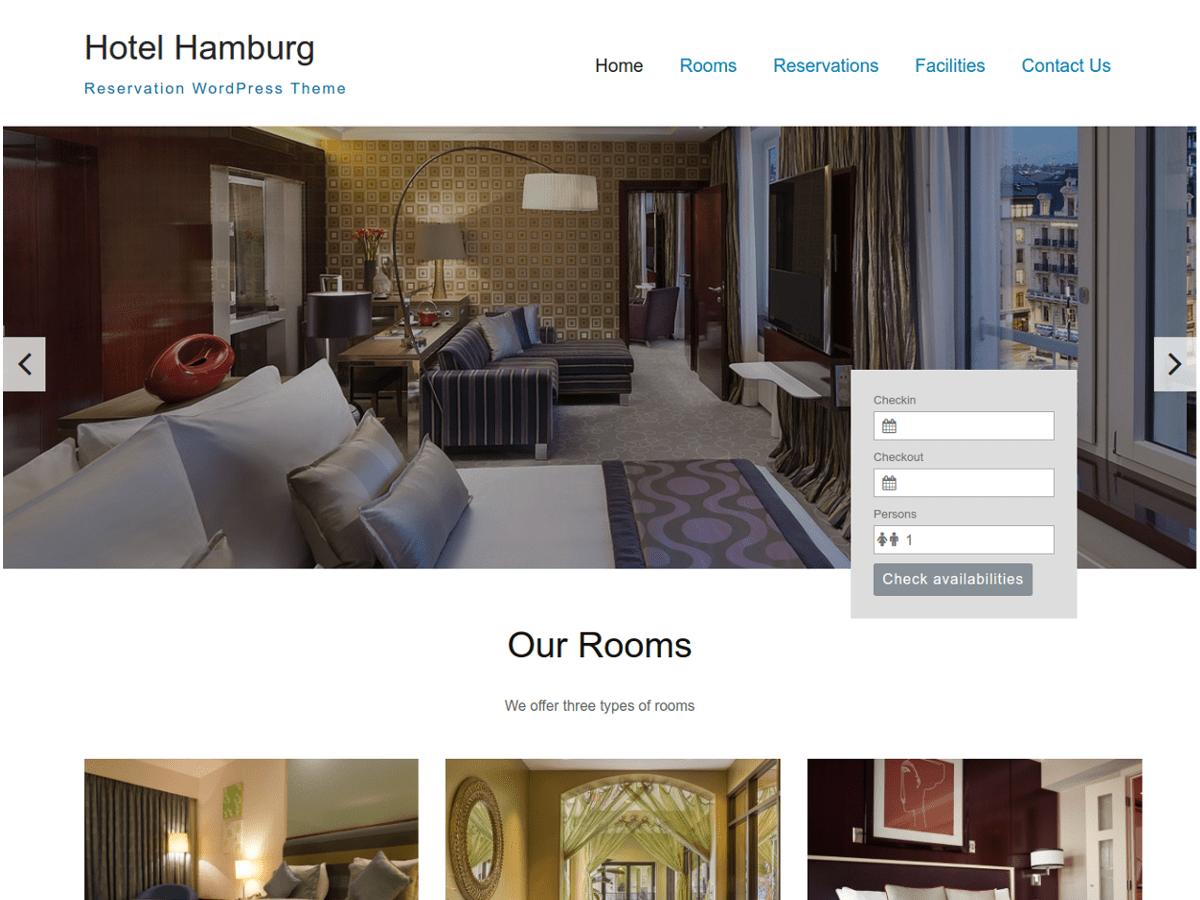 Download Hotel Hamburg 1.0.4 – Free WordPress Theme