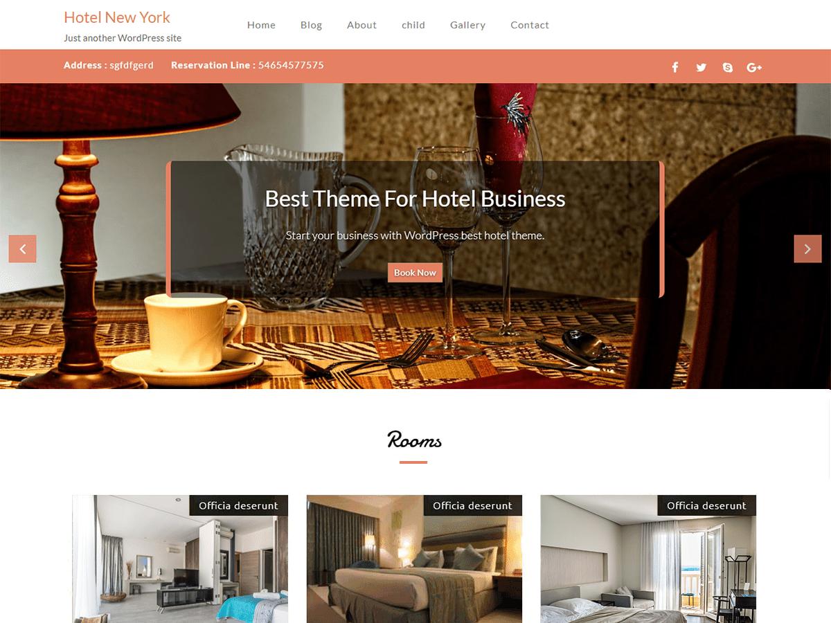 Download Hotel New York 1.1.3 – Free WordPress Theme