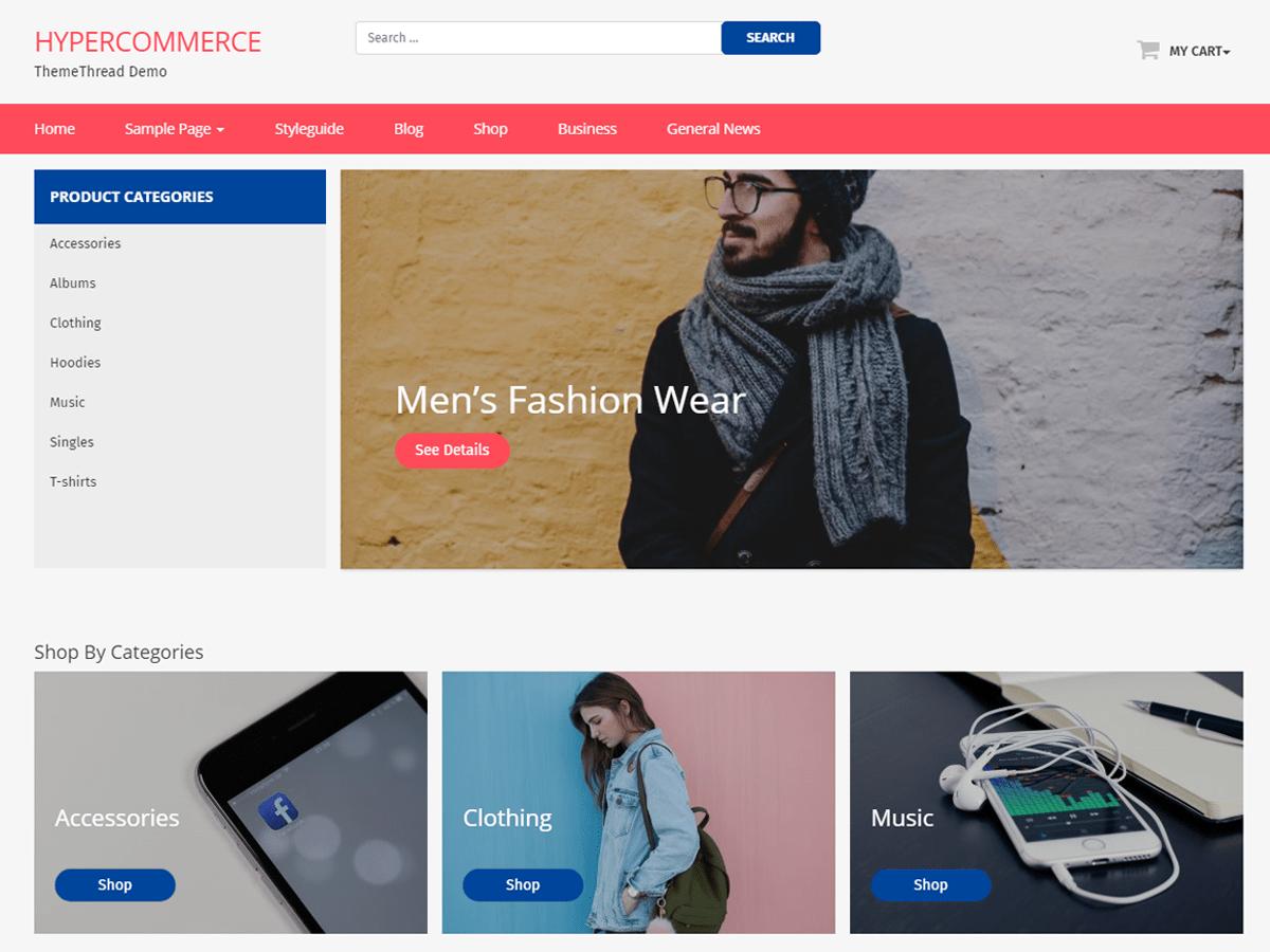 Download Hyper Commerce 1.0.9 – Free WordPress Theme