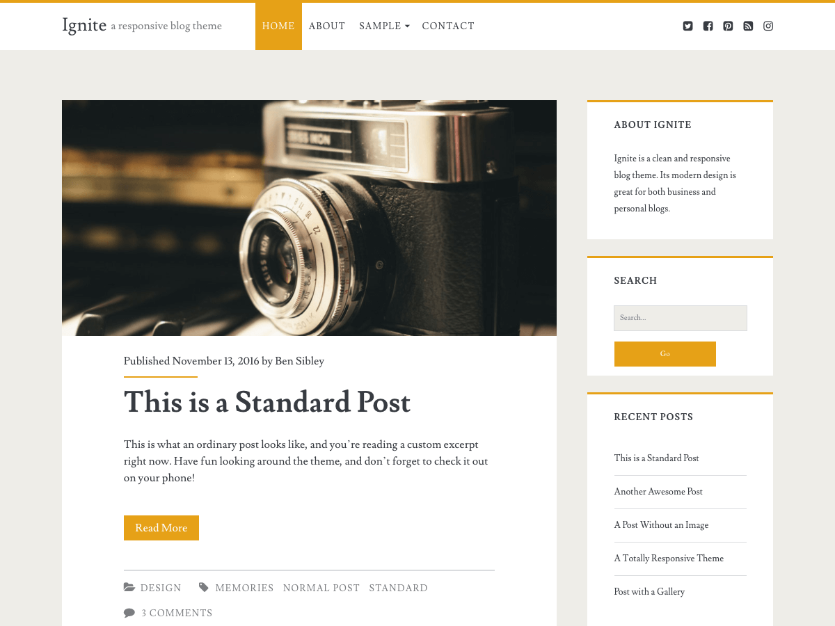 Download Ignite 1.72 – Free WordPress Theme