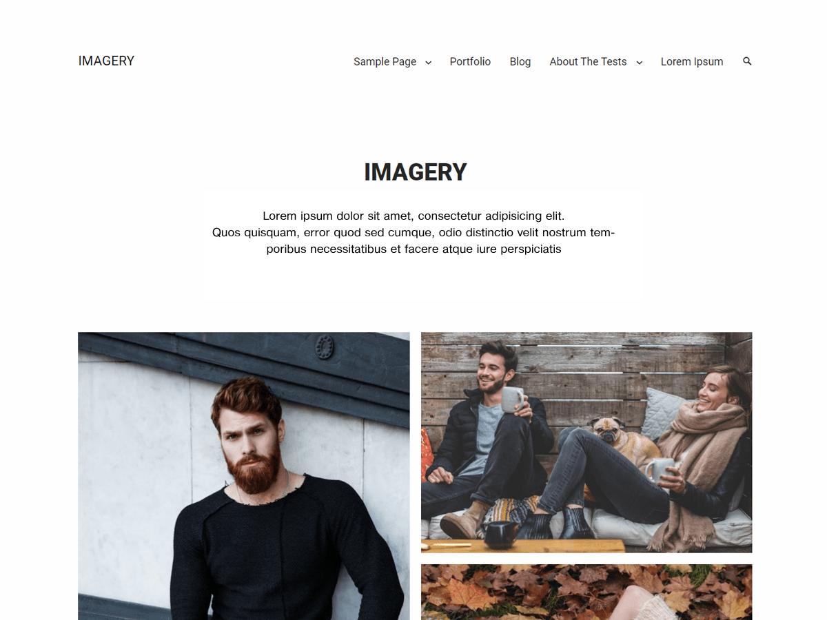 Download Imagery 1.1.3 – Free WordPress Theme