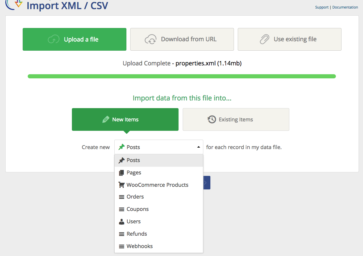 Download Import any XML or CSV File to WordPress 3.4.9 – Free WordPress Plugin