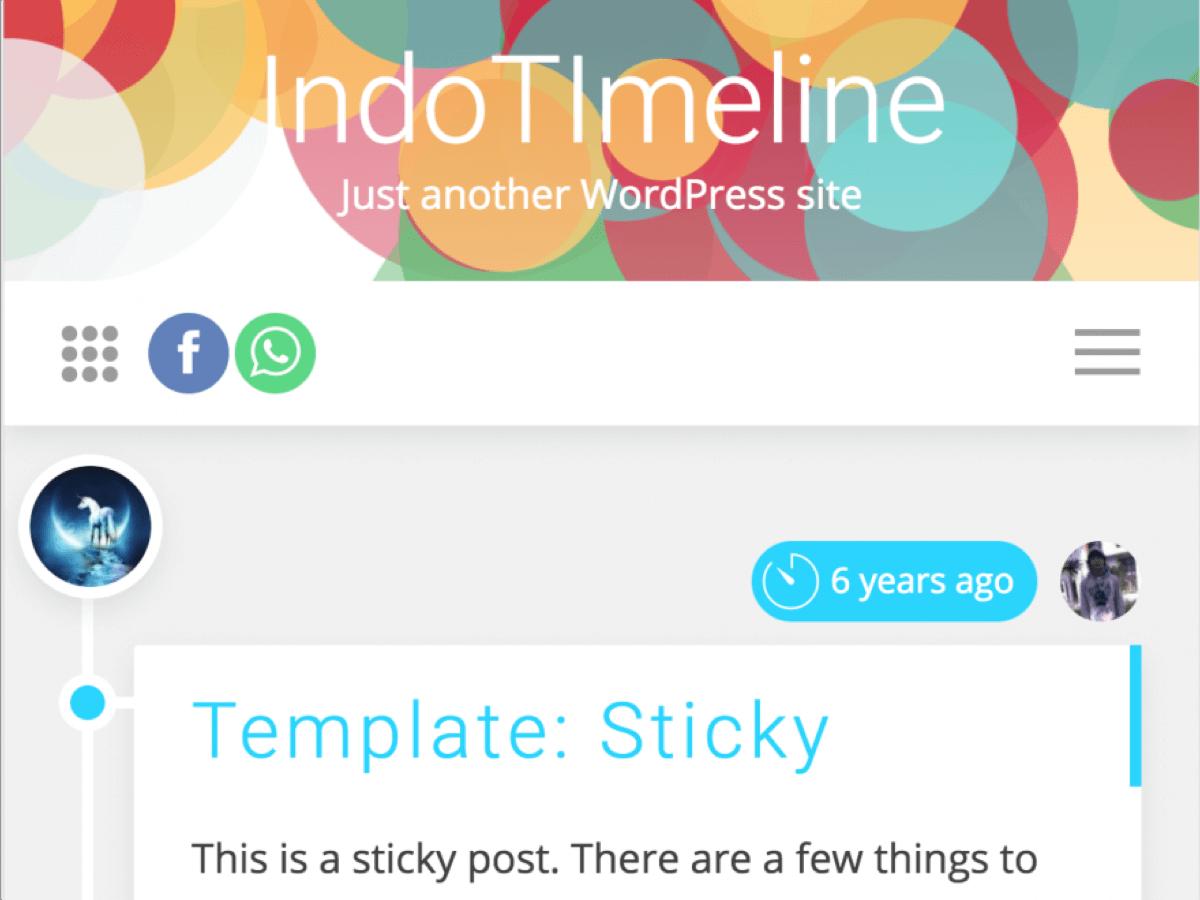 Download IndoTimeline 1.0.7 – Free WordPress Theme