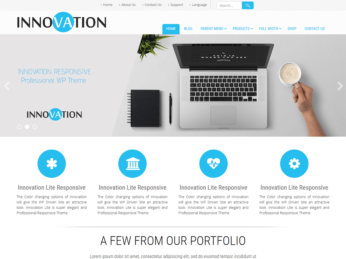 Download Innovation Lite 2.3 – Free WordPress Theme